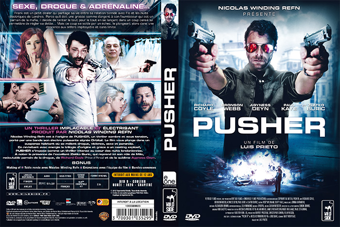 PUSHER DVD à plat